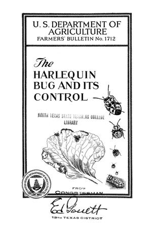 The harlequin bug and its control.