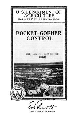 Primary view of object titled 'Pocket-gopher control.'.