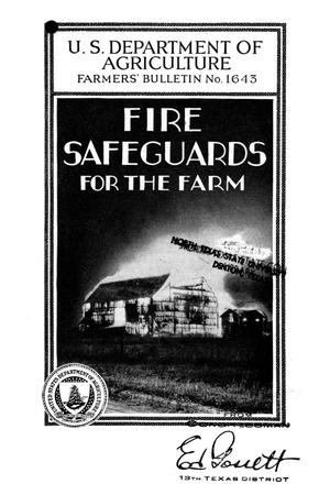 Primary view of object titled 'Fire safeguards for the farm.'.