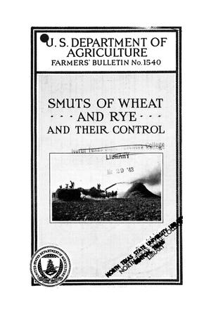 Primary view of object titled 'Smuts of wheat and rye and their control.'.