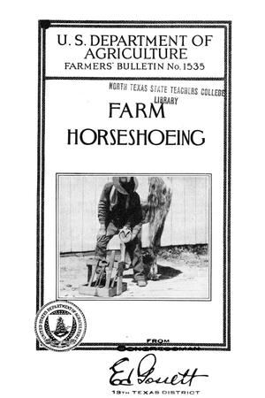Primary view of object titled 'Farm horseshoeing.'.