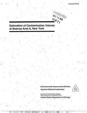 Primary view of object titled 'Estimation of contamination volume at Seaway Area A, New York.'.