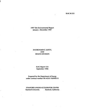 Primary view of object titled '1997 Annual Site Environmental Report (ASER)'.