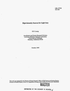 Primary view of object titled 'High-intensity sources for light ions'.