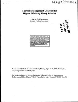Primary view of object titled 'Thermal management concepts for higher efficiency heavy vehicles.'.