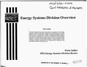 Primary view of object titled 'Energy Systems Division Overview'.
