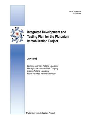 Primary view of object titled 'Integrated development and testing plan for the plutonium immobilization project'.