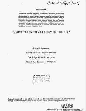 Primary view of object titled 'Dosimetric methodology of the ICRP'.