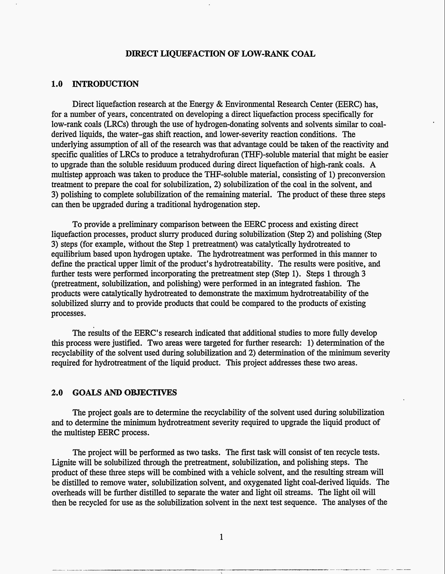 Direct liquefaction of low-rank coal. Quarterly technical progress report, April 1, 1995--June 30, 1995                                                                                                      [Sequence #]: 4 of 13