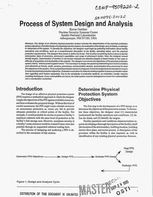 Primary view of object titled 'Process of system design and analysis'.