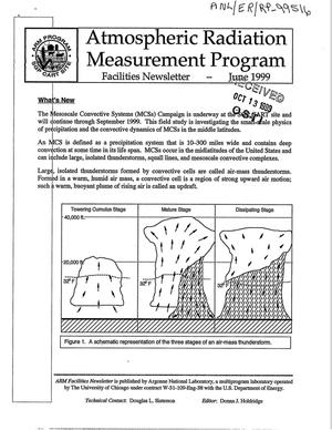 Primary view of object titled 'Atmospheric Radiation Measurement Program Facilities Newsletter - June 1999.'.