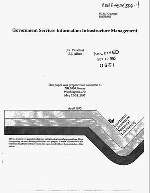Primary view of object titled 'Government Services Information Infrastructure Management'.