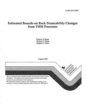 Primary view of object titled 'Estimated bounds on rock permeability changes from THM Processes'.