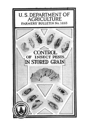 Primary view of object titled 'Control of insect pests in stored grain.'.