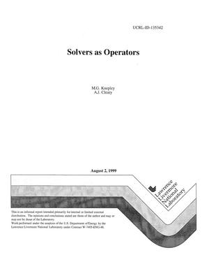 Primary view of object titled 'Solvers as operators'.