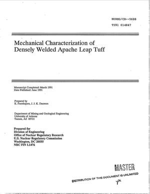 Primary view of object titled 'Mechanical characterization of densely welded Apache Leap tuff'.