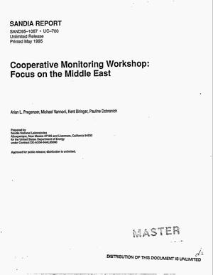 Primary view of object titled 'Cooperative monitoring workshop: Focus on the Middle East'.