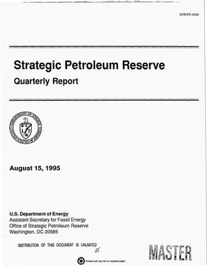Primary view of object titled 'Strategic petroleum reserve. Quarterly report'.