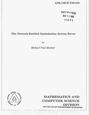 Primary view of object titled 'The network-enabled optimization system server'.