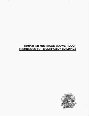 Primary view of object titled 'Simplified multizone blower door techniques for multifamily buildings. Final report'.