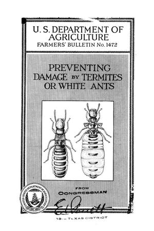 Preventing damage by termites or white ants.