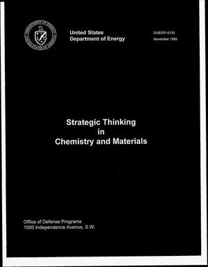 Primary view of object titled 'Strategic thinking in chemistry and materials'.