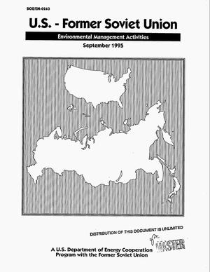 Primary view of object titled 'US - Former Soviet Union environmental management activities'.