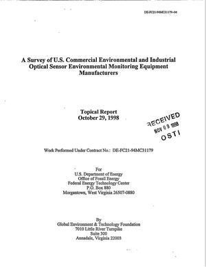 Primary view of object titled 'A Survey of U.S. Commercial Environmental and Industrial Optical Sensor Environmental Monitoring Equipment Manufacturers'.