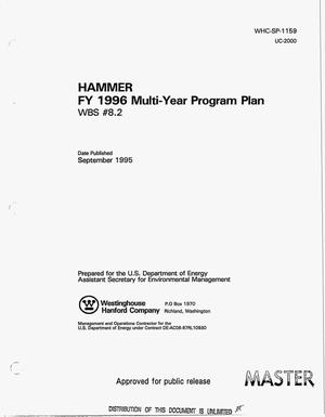 Primary view of object titled 'HAMMER FY 1996 Multi-Year Program Plan: WBS {number_sign}8.2'.