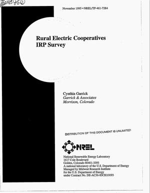 Primary view of object titled 'Rural electric cooperatives IRP survey'.