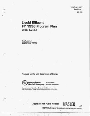 Primary view of object titled 'Liquid effluent FY 1996 program plan WBS 1.2.2.1. Revision 1'.