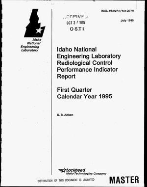 Primary view of object titled 'Idaho National Engineering Laboratory Radiological Control performance indicator report: First quarter, calendar year 1995'.