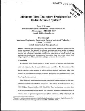 Primary view of object titled 'Minimum-Time Trajectory Tracking of an Under-Actuated System'.