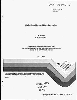 Primary view of object titled 'Model-based internal wave processing'.