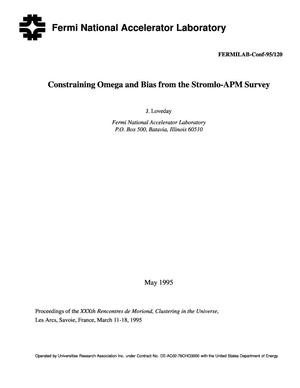 Primary view of object titled 'Constraining omega and bias from the Stromlo-APM survey'.