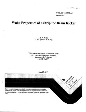 Primary view of object titled 'Wake properties of a stripline beam kicker'.