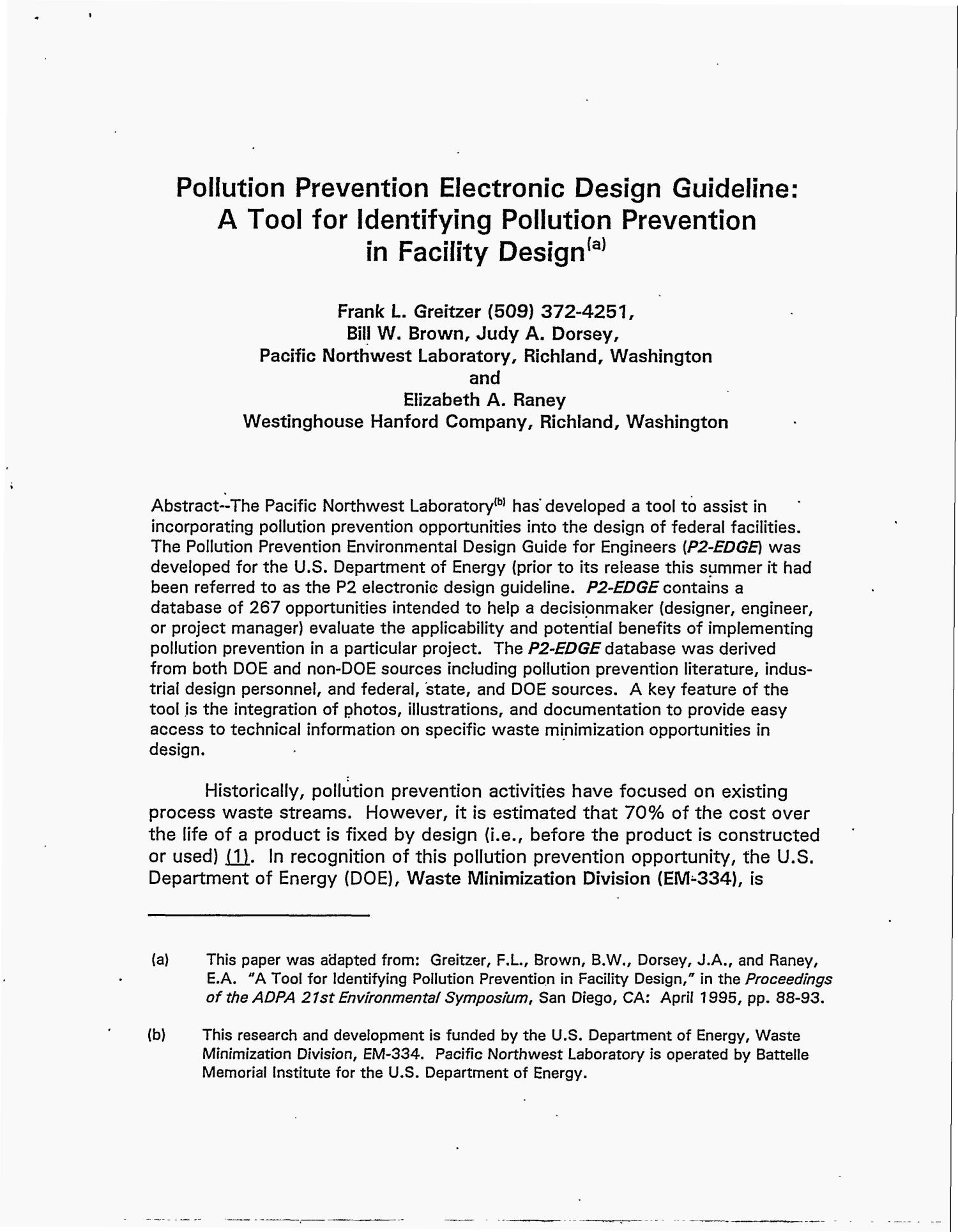 Pollution prevention electronic design guideline: A tool for identifying pollution prevention in facility design                                                                                                      [Sequence #]: 2 of 7