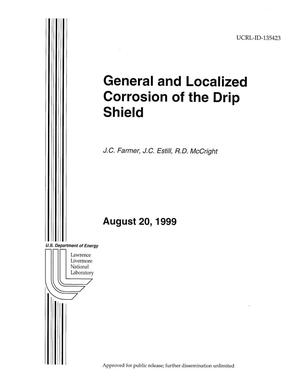 Primary view of object titled 'General and localized corrosion of the drip shield'.