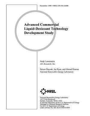 Primary view of object titled 'Advanced Commercial Liquid-Desiccant Technology Development Study'.