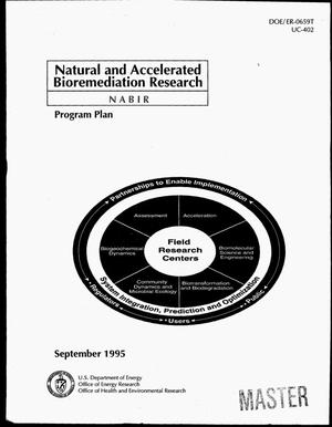 Primary view of object titled 'Natural and accelerated bioremediation research program plan'.