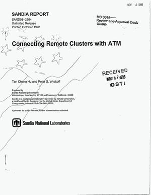Primary view of object titled 'Connecting Remote Clusters with ATM'.