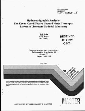 Primary view of object titled 'Hydrostratigraphic analysis - The key to cost-effective ground water cleanup at Lawrence Livermore National Laboratory'.