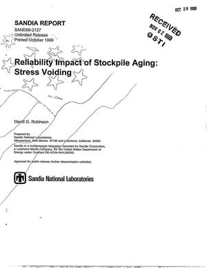 Primary view of object titled 'Reliability Impact of Stockpile Aging: Stress Voiding'.