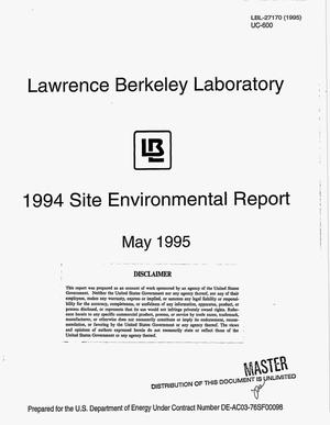 Primary view of object titled '1994 Site Environmental Report'.