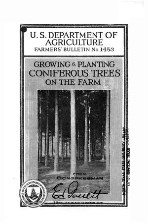 Primary view of object titled 'Growing and planting coniferous trees on the farm.'.