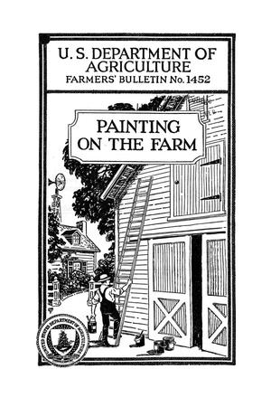Primary view of object titled 'Painting on the farm.'.