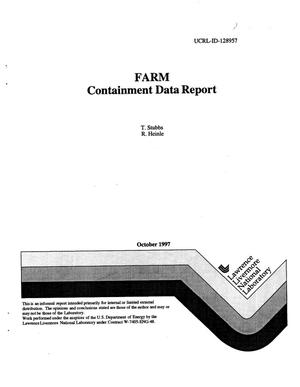 Primary view of object titled 'FARM containment data report'.