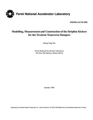 Primary view of object titled 'Modelling, measurement and construction of the stripline kickers for the Tevatron transverse dampers'.