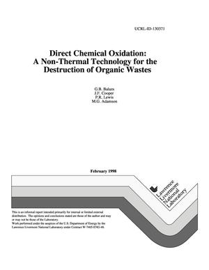 Primary view of object titled 'Direct chemical oxidation: a non-thermal technology for the destruction of organic wastes'.
