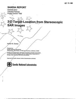 Primary view of object titled '3-D Target Location from Stereoscopic SAR Images'.